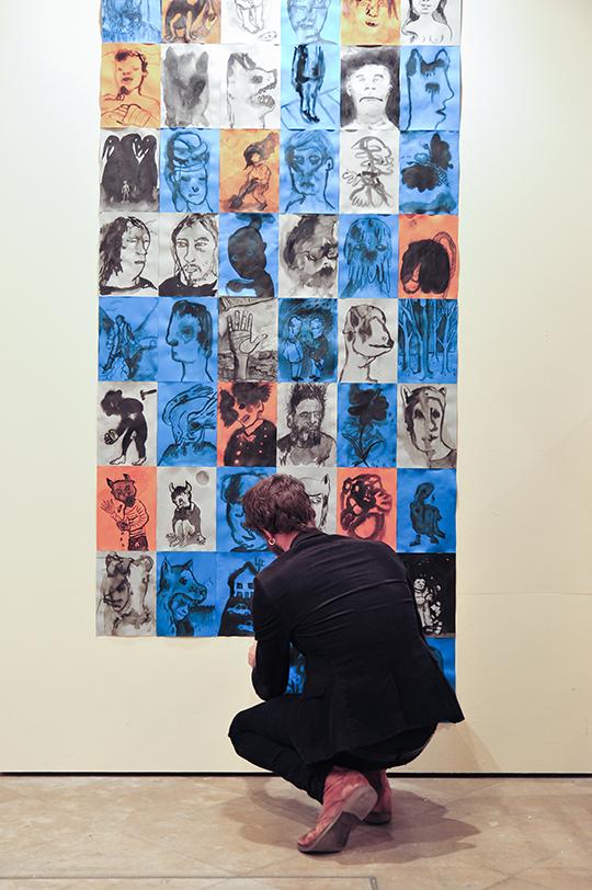 Olivier Specio, Peintre à Berlin - Bordeaux. Photo de Gary Lafitte pour 10point15.