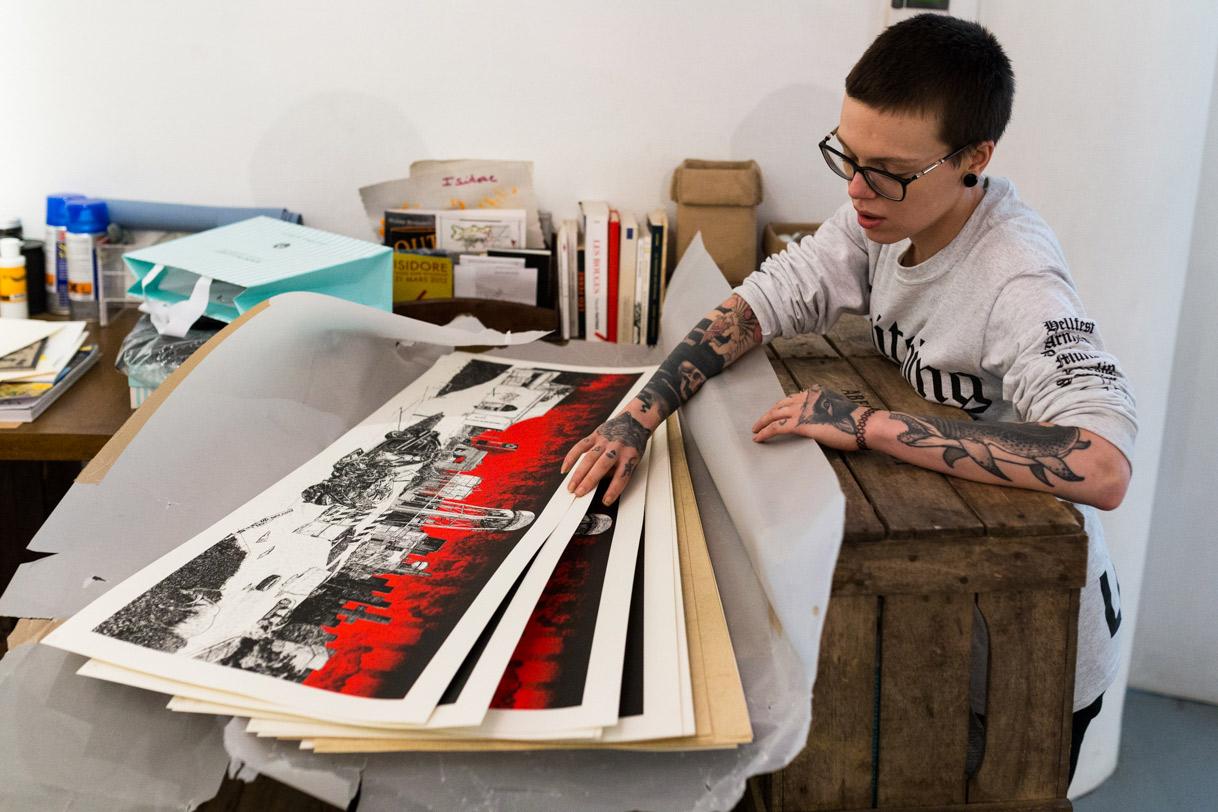 Jessica Daubertes & Adrien Havet, Directeur Artistique et Illustrateur à Paris.