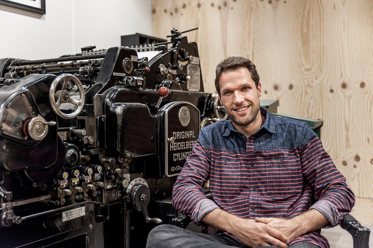Yann Cloutier, Artisan et Imprimeur à Bordeaux.