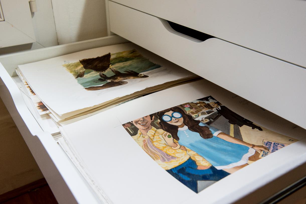 Manuele Fior, Auteur et Illustrateur à Paris. Photo de Sébastien Dehesdin pour 10point15.