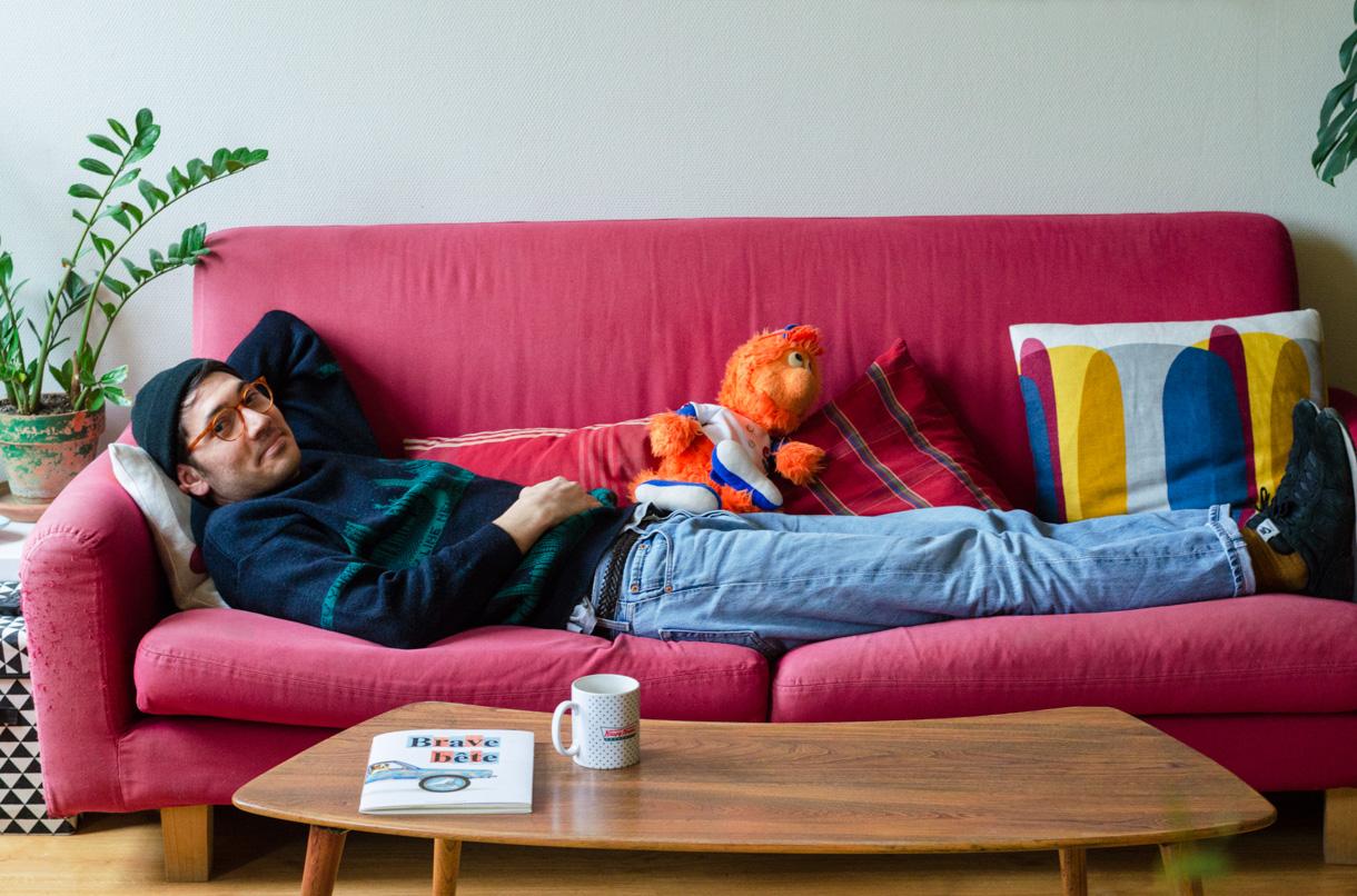 Thibaut Gleize, Dessinateur et Illustrateur à Bordeaux. Photo de Marina Tolstoukhine pour 10point15.