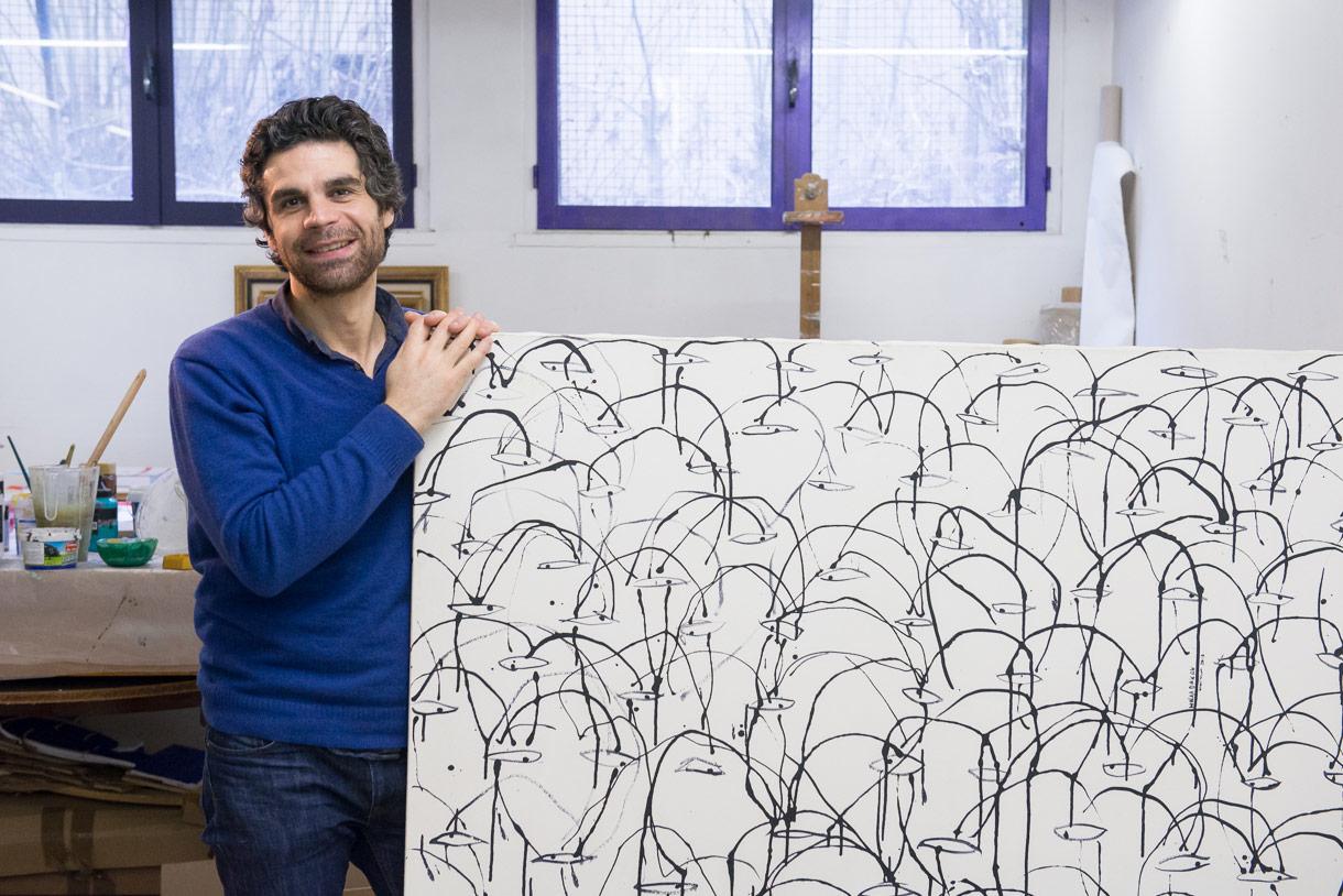 Walaa Dakak, Peintre à Montreuil.