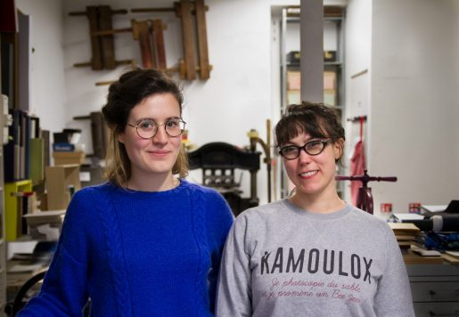 Anne-Claire Fessard & Marion Huchet, Relieuses à Pantin.